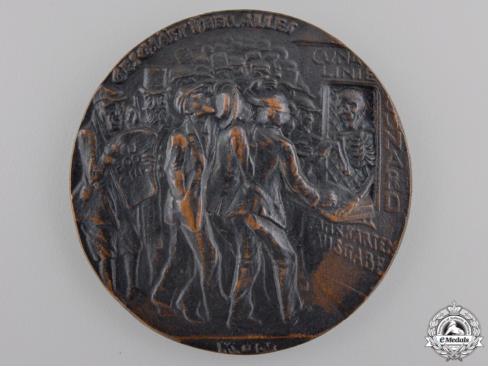 eMedals-A First War Lusitania Medallion; First Version