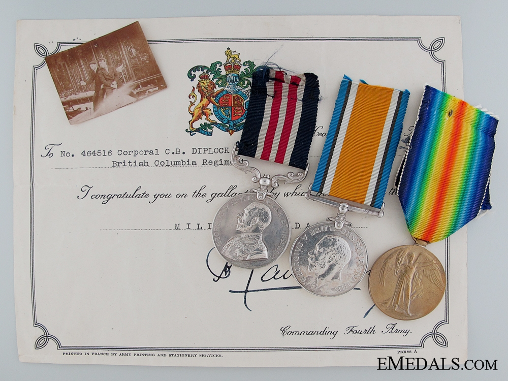 eMedals-A First War M.M. for the Battle of Amiens