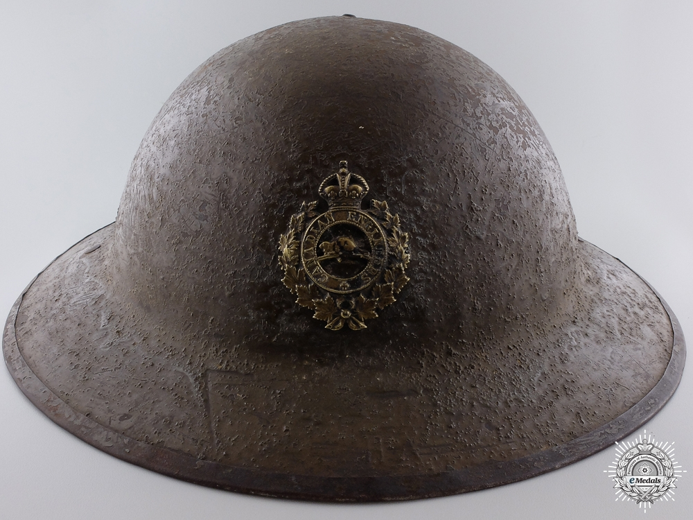 eMedals-A First War Mark II Canadian Engineers Helmet  Consignment #4