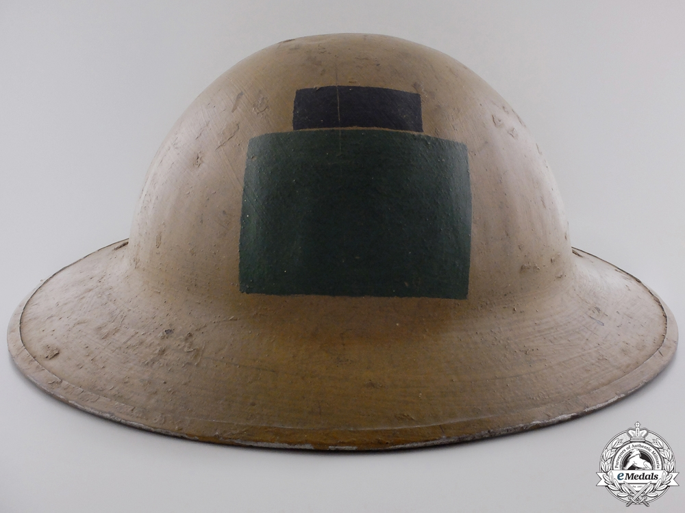 eMedals-A First War Mark II 85th Infantry Battalion; 4th Can Div Helmet