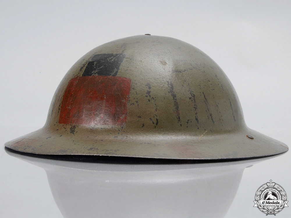 eMedals-A First War Mark I 16th Infantry Battalion; 1st Canadian Division Helmet