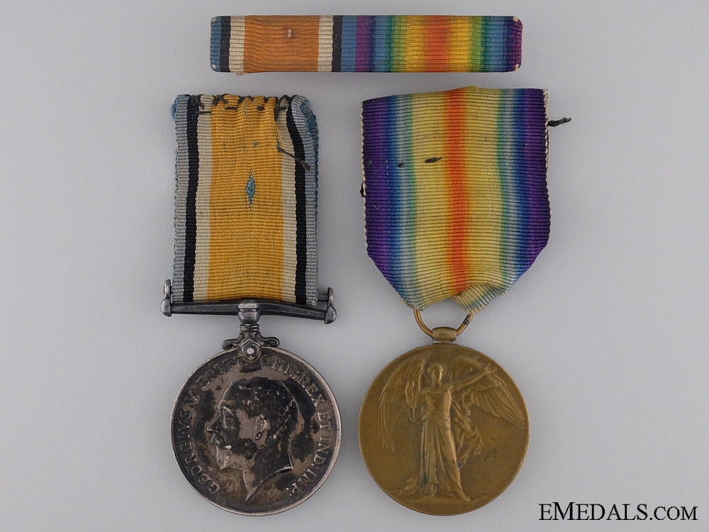 eMedals-A First War Medal Pair to the 14th Canadian Infantry CEF