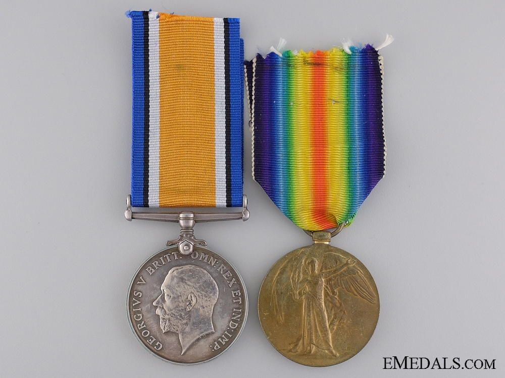 eMedals-A First War Medal Pair to the 2nd Canadian Infantry