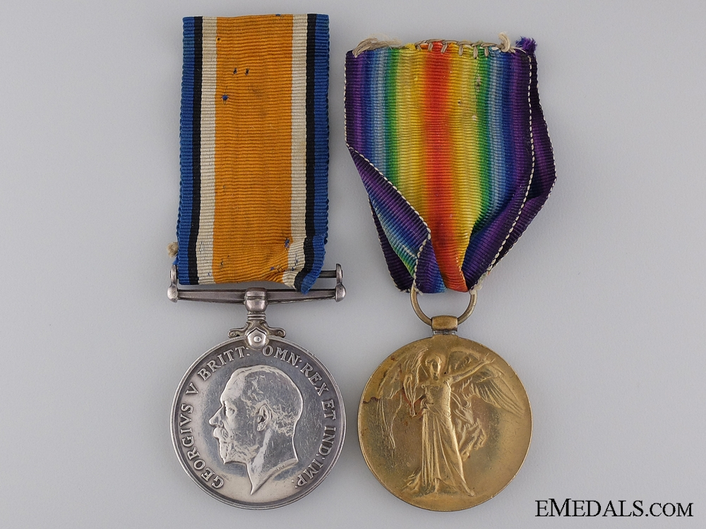 eMedals-A First War Medal Pair to the 75th Canadian Infantry