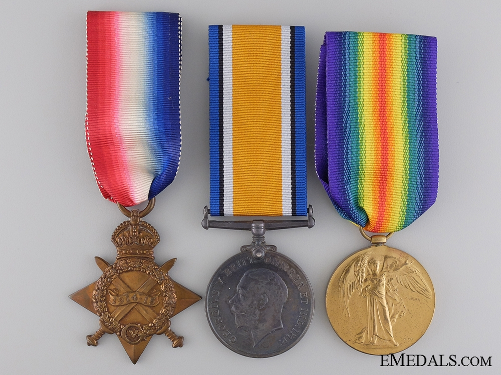 eMedals-A First War Medal Trio to the 15th Infantry Battalion CEF