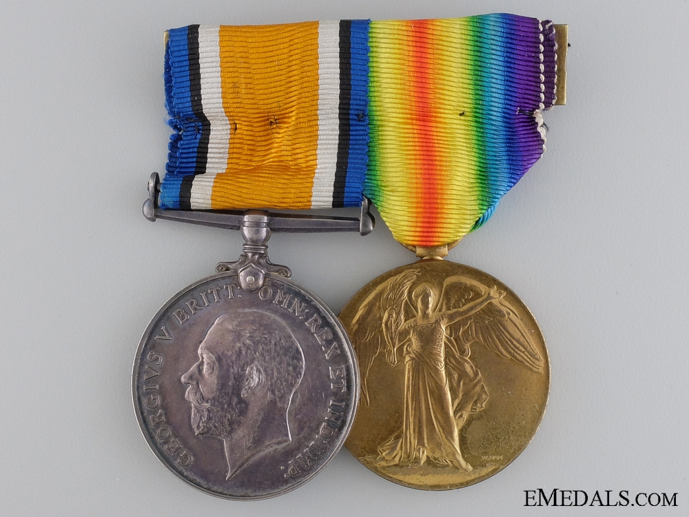 eMedals-A First War Medal Pair to the Canadian Army Service Corps