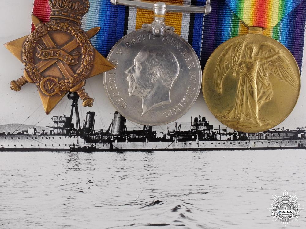 eMedals-A First War Medal Bar to a Battle of Jutland Participant