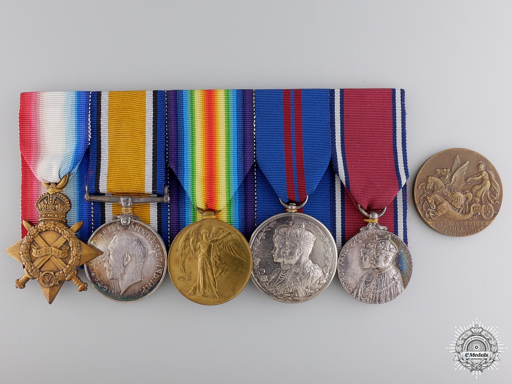 eMedals-A First War Medal Bar to the Royal Navy