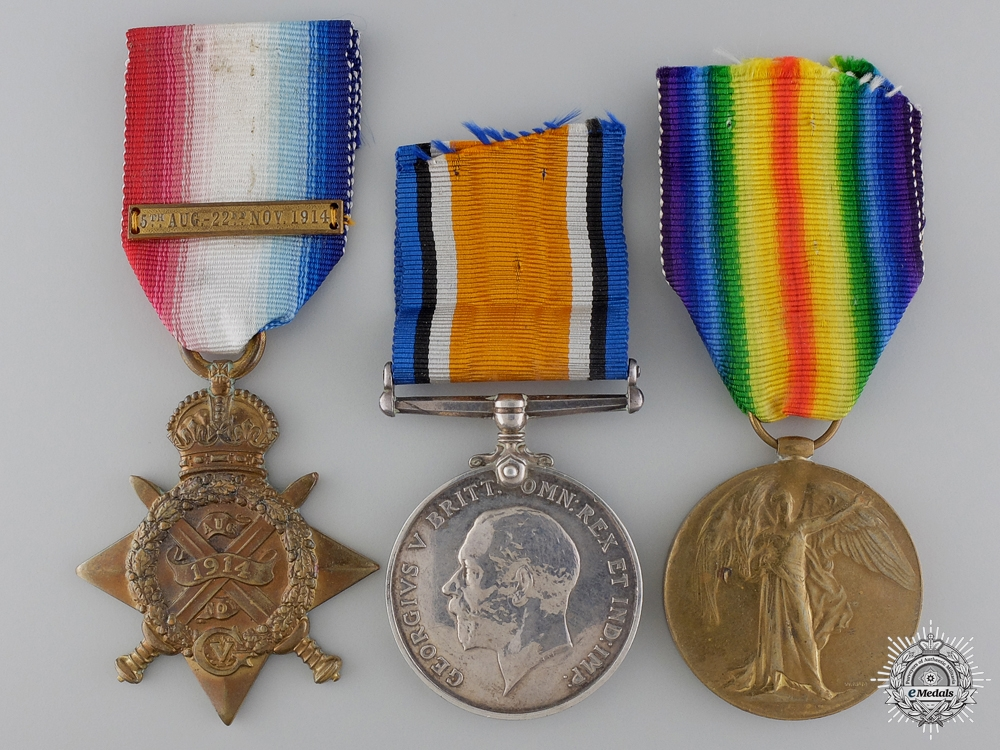 eMedals-A First War Medal Trio to the Royal Garrison Artillery
