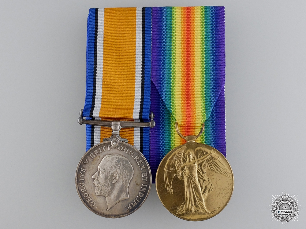 eMedals-A First War Medal Pair to the Machine Gun Corps