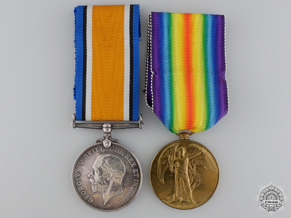 eMedals-A First War Medal Pair tot the Army Ordnance Corps