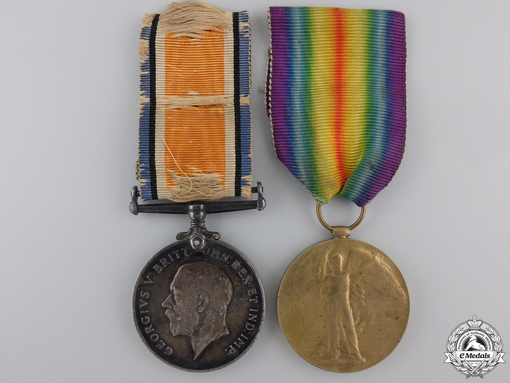 eMedals-A First War Medal Pair to the Royal Artillery