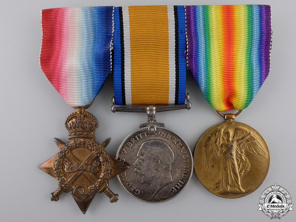 eMedals-A First War Medal Trio to the North Staffordshire Regiment