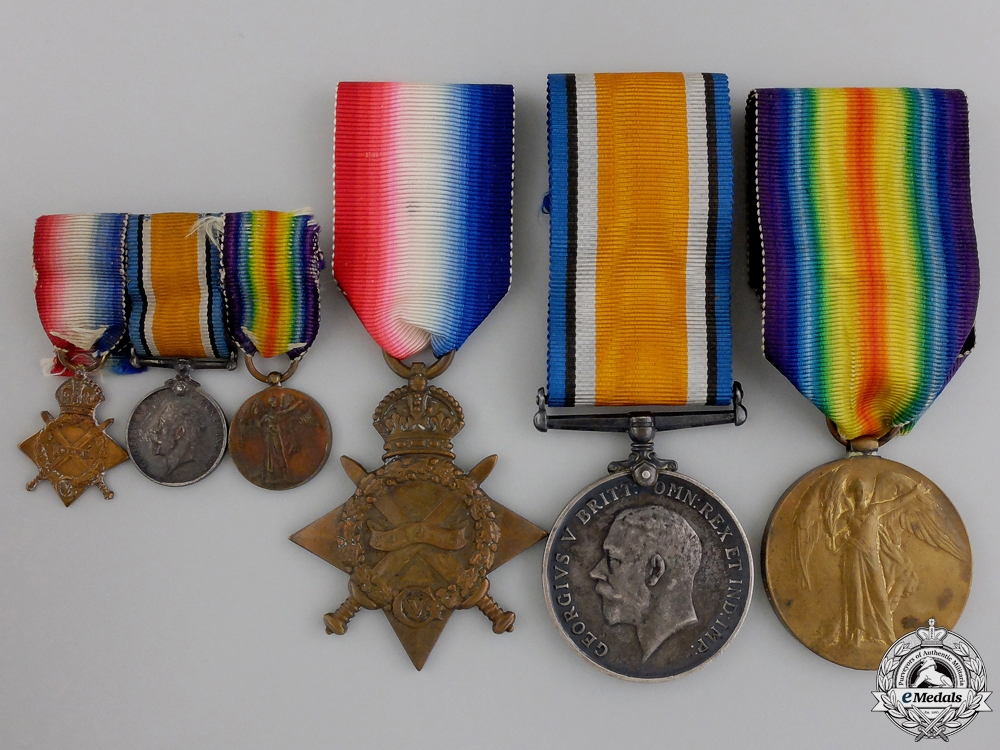 eMedals-A First War Medal Trio to the 1st Canadian Division Headquarters