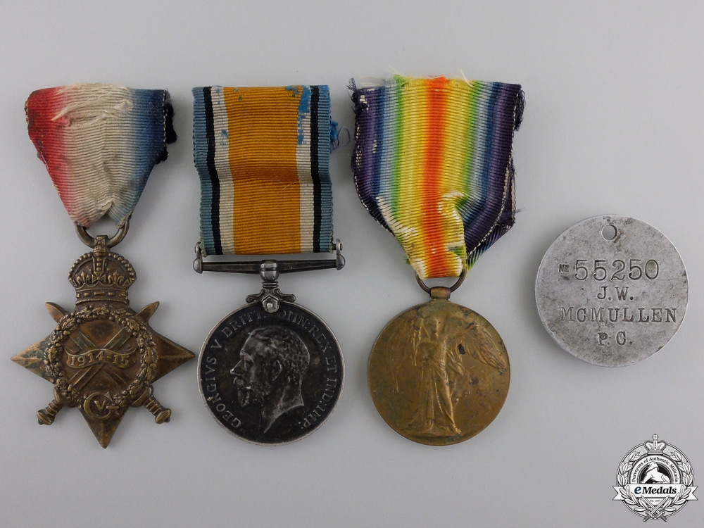 eMedals-A First War Medal Trio to Lt.McMullen; 19th Canadian Infantry