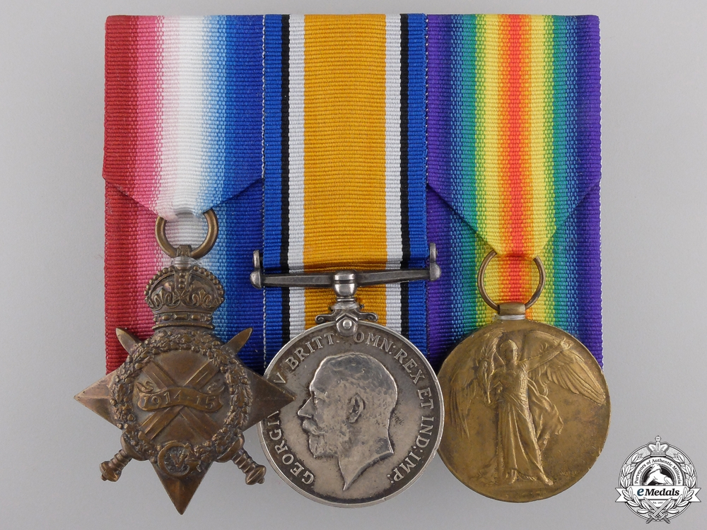 eMedals-A First War Medal Trio to the 2nd Canadian Infantry