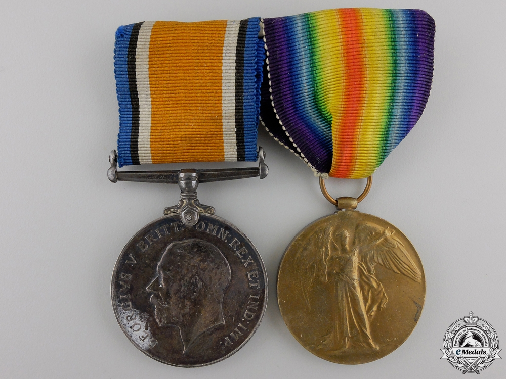 eMedals-A First War Medal Pair to the Royal Canadian Artillery