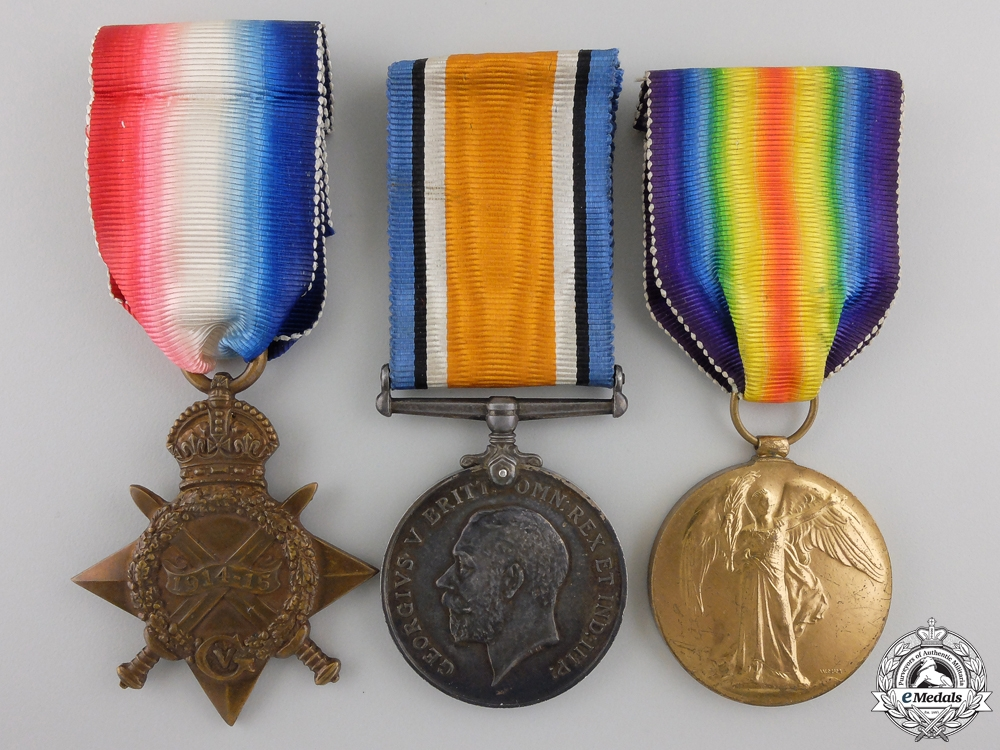 eMedals-A First War Medal Trio to the 18th Canadian Infantry CEF