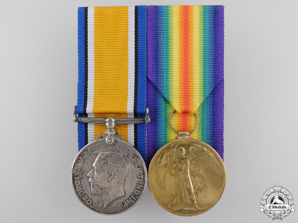 eMedals-A First War Medal Pair to the 2nd Battalion; KIA on Ypres Salient