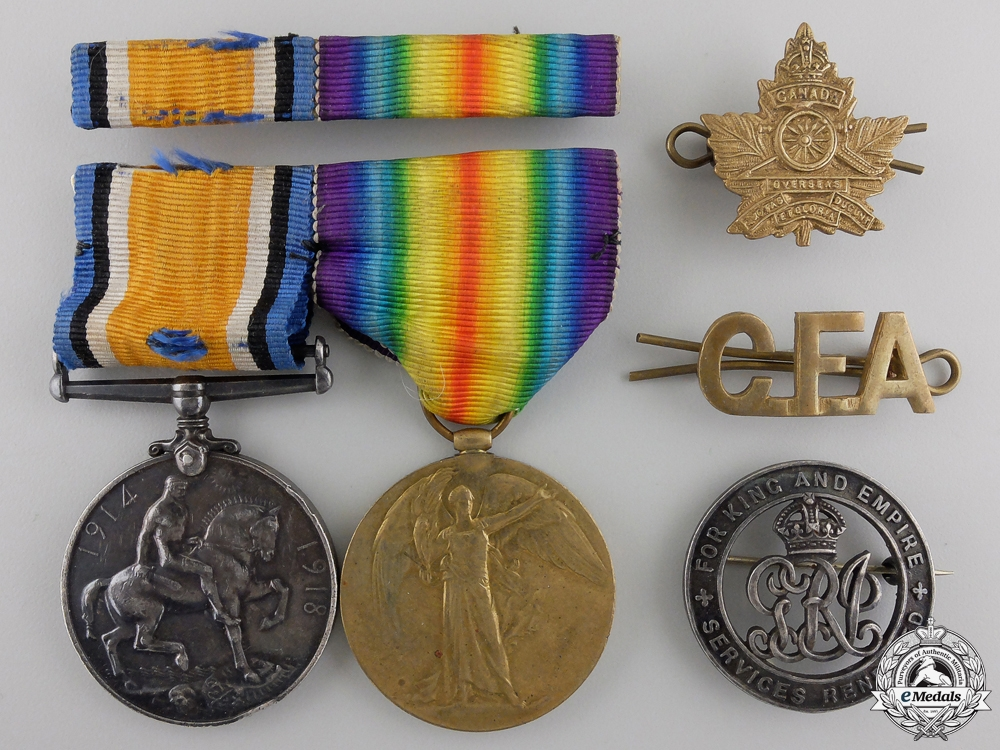 eMedals-A First War Medal Pair to the Canadian Field Artillery