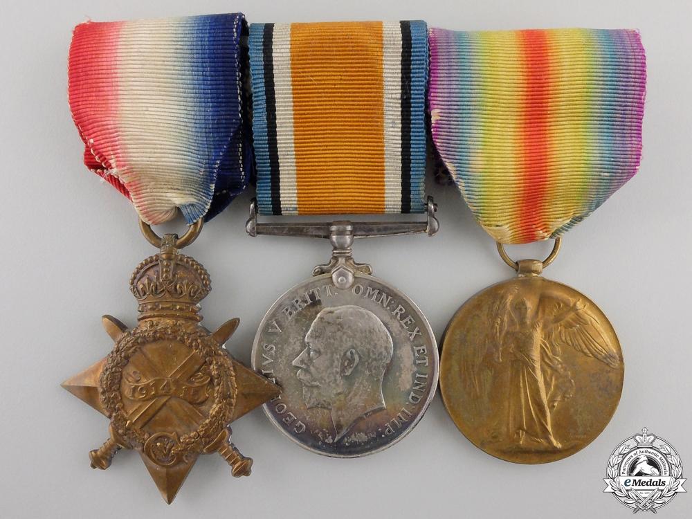 eMedals-A First War Medal Trio to Lieutenant Rayner; Canadian Field Artillery