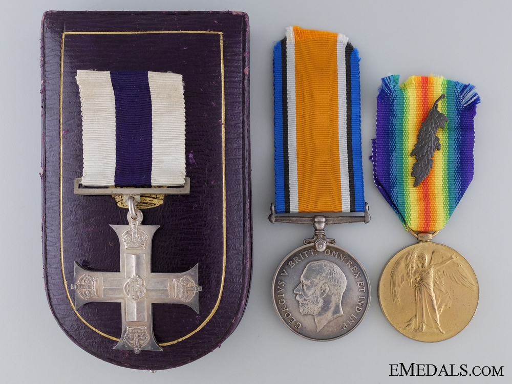 eMedals-A First War Military Cross & MID to Major Hugh P. Williams 1917