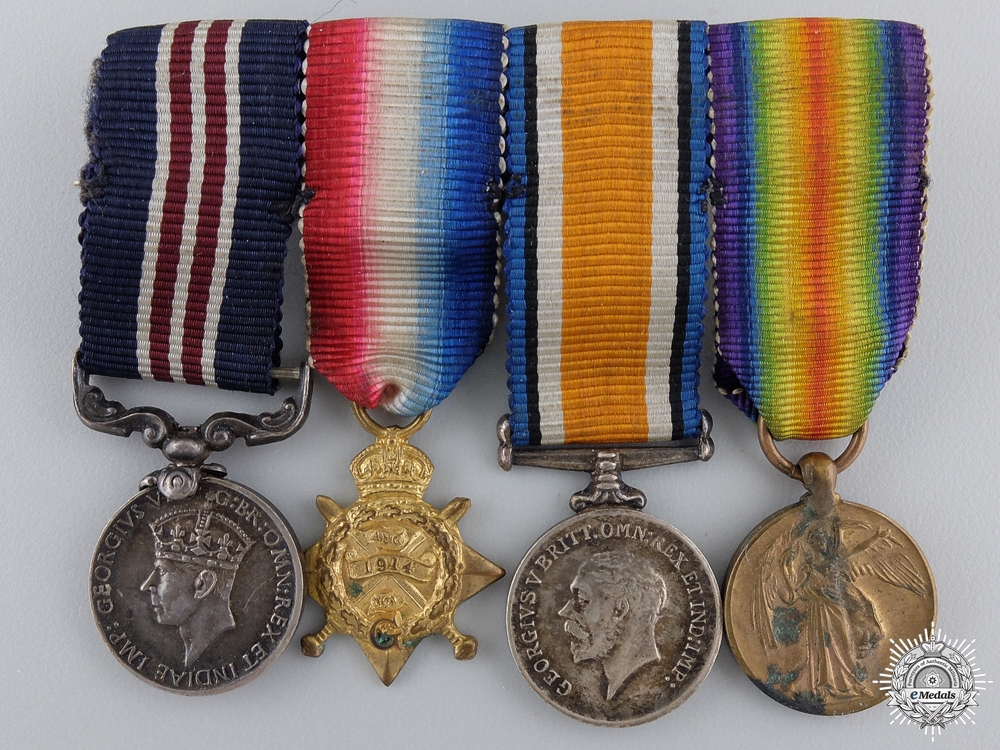 eMedals-A First War Military Medal & Mons Star Miniature Group