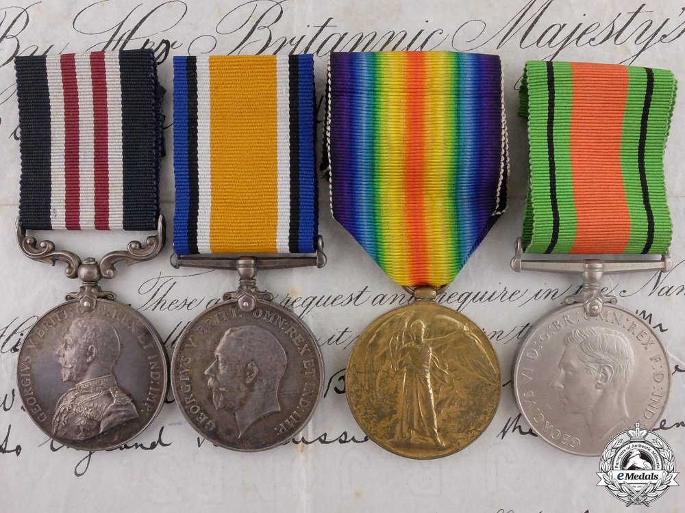 eMedals-A First War Military Medal to the 130th Heavy Battery