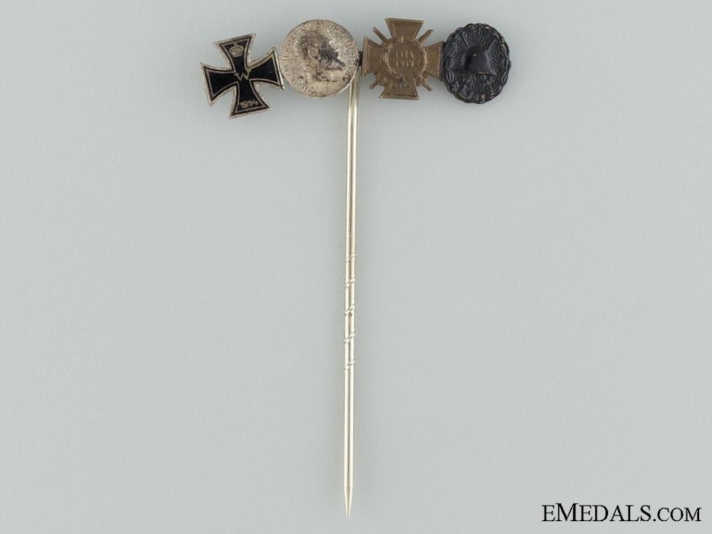 eMedals-A First War Miniature Set Stickpin