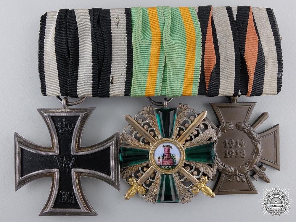 eMedals-A First War German Order of  the Zahringen Lion Medal Bar
