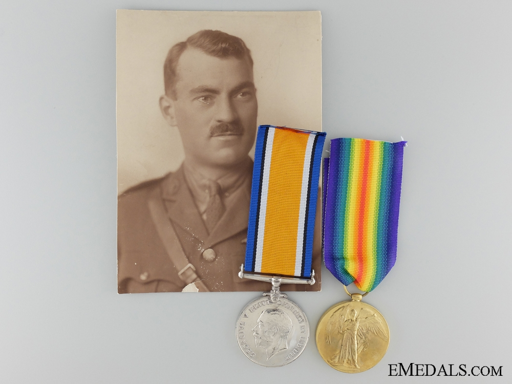 eMedals-A First War Pair to Lieutenant McBain; Royal Flying Corps