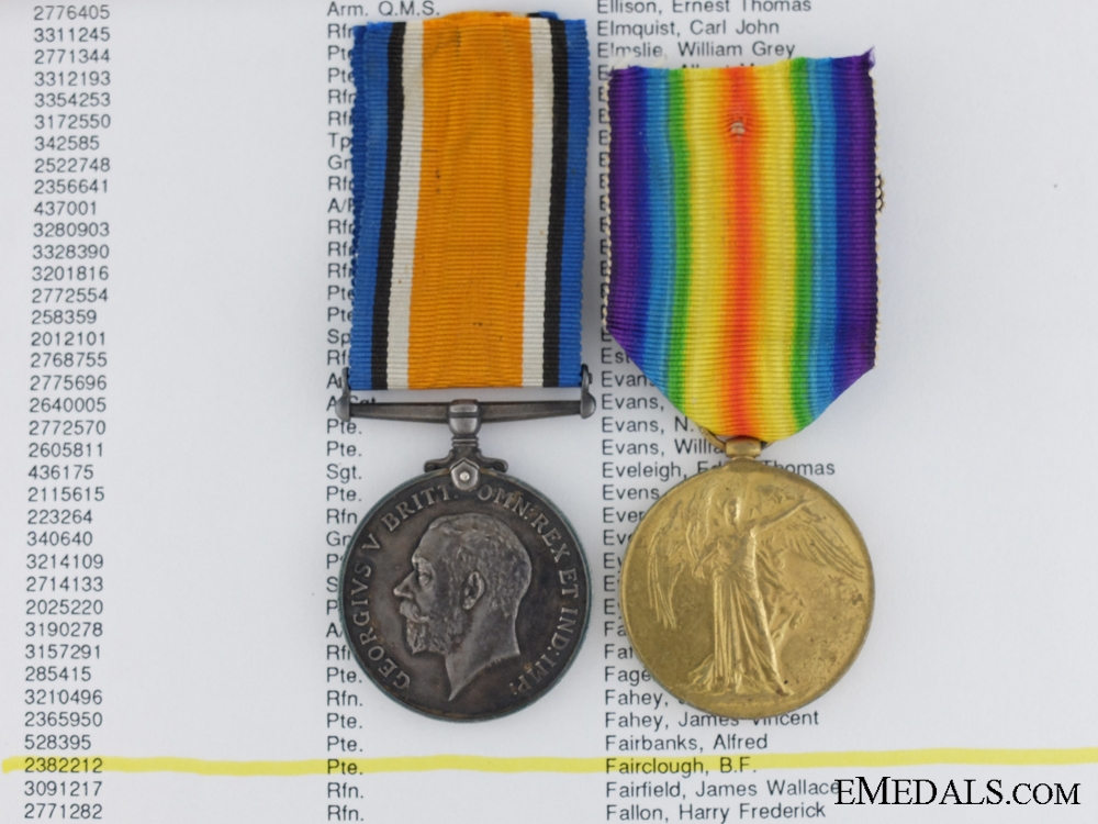 eMedals-A First War Pair to the Canadian Siberian Expeditionary Force