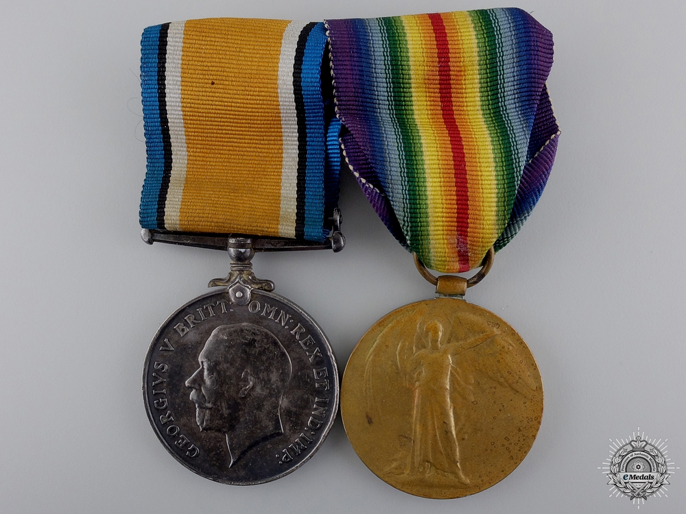 eMedals-A First War Pair to the Canadian Army Service Corps