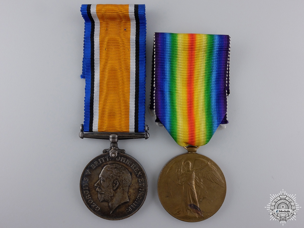 eMedals-A First War Pair to the 46th Canadian Infantry; Passchendaele