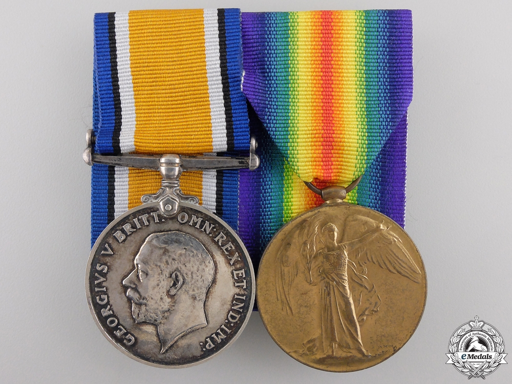 eMedals-A First War Pair to 2nd Lieutenant Barker