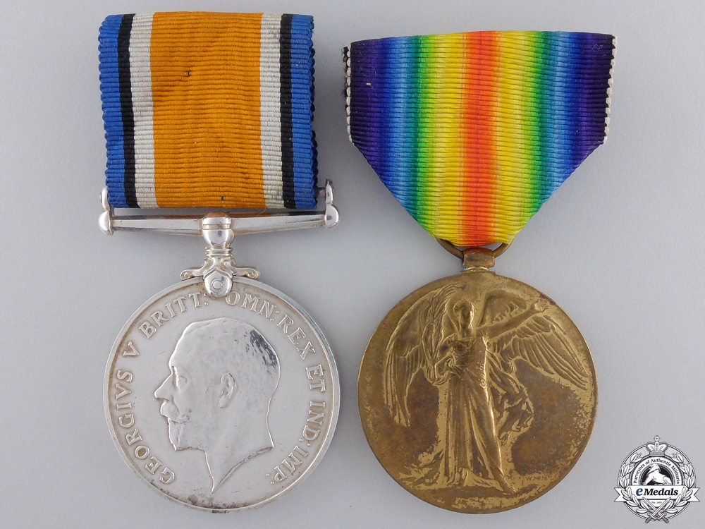 eMedals-A First War Pair to the 75th Canadian Infantry