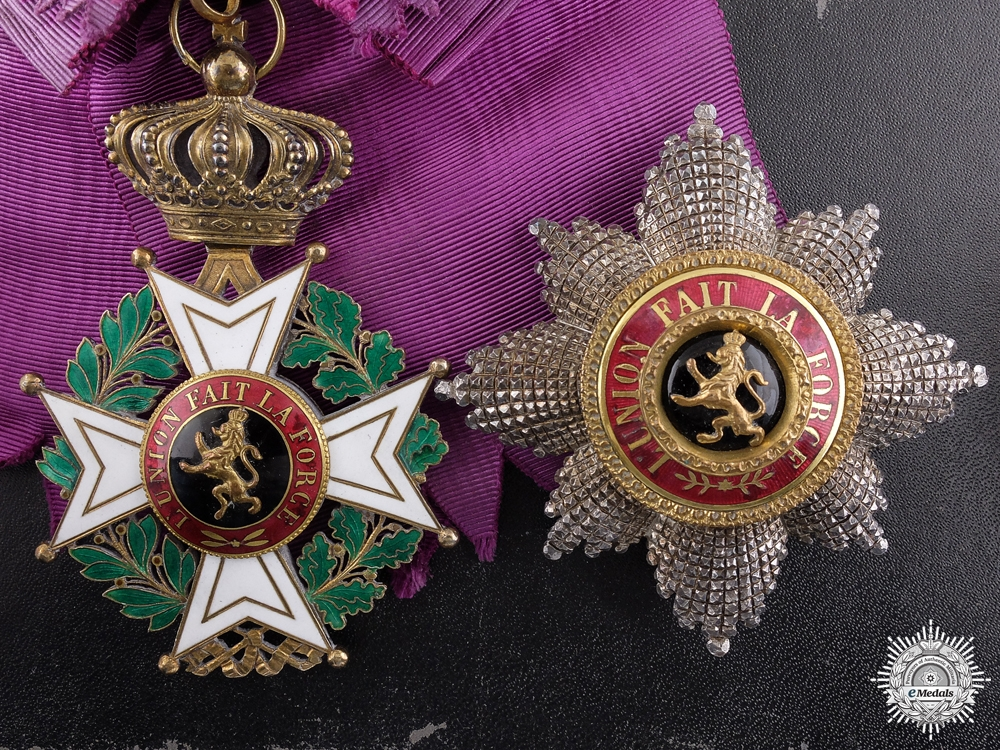 eMedals-A First War Period Belgian Order of Leopold; Grand Cross by J.Fonson