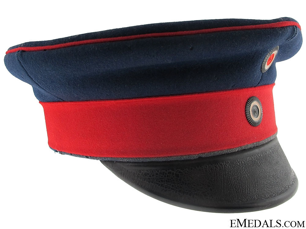 eMedals-A First War Prussian Regiment Peaked Cap, Named