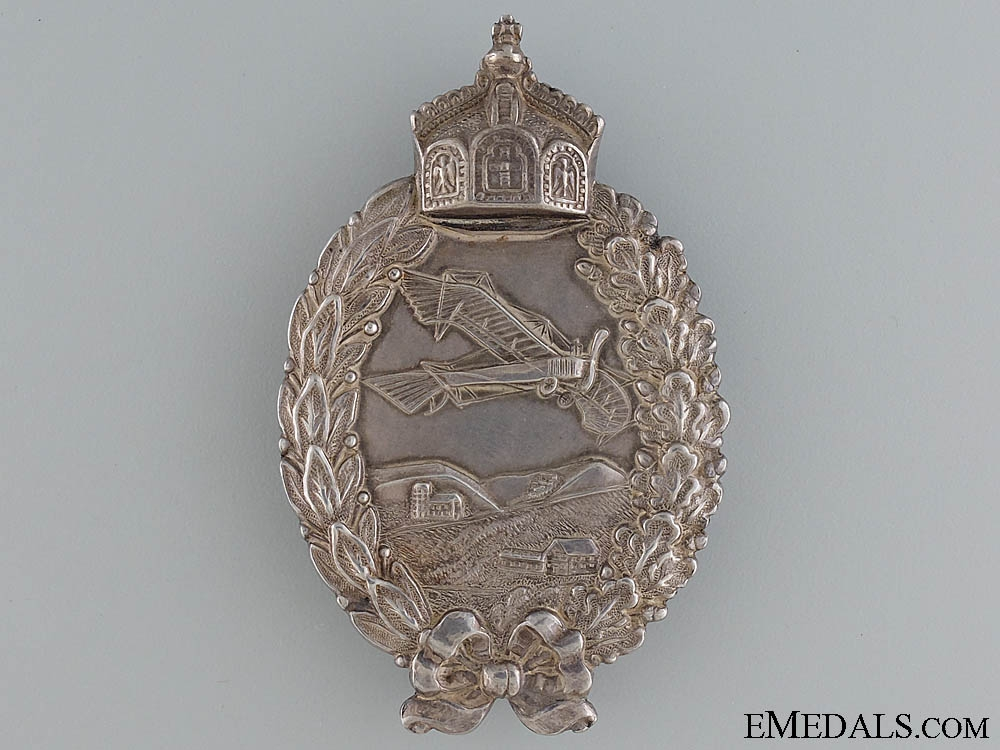 eMedals-A First War Pilot's Badge in Silver
