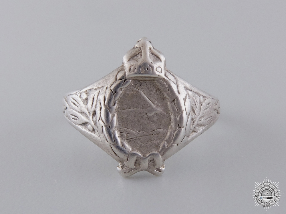eMedals-A First War Prussian Pilot Ring in Silver