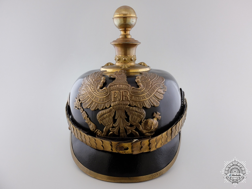 eMedals-A First War Prussian Foot Artillery Officer's Pickelhaube