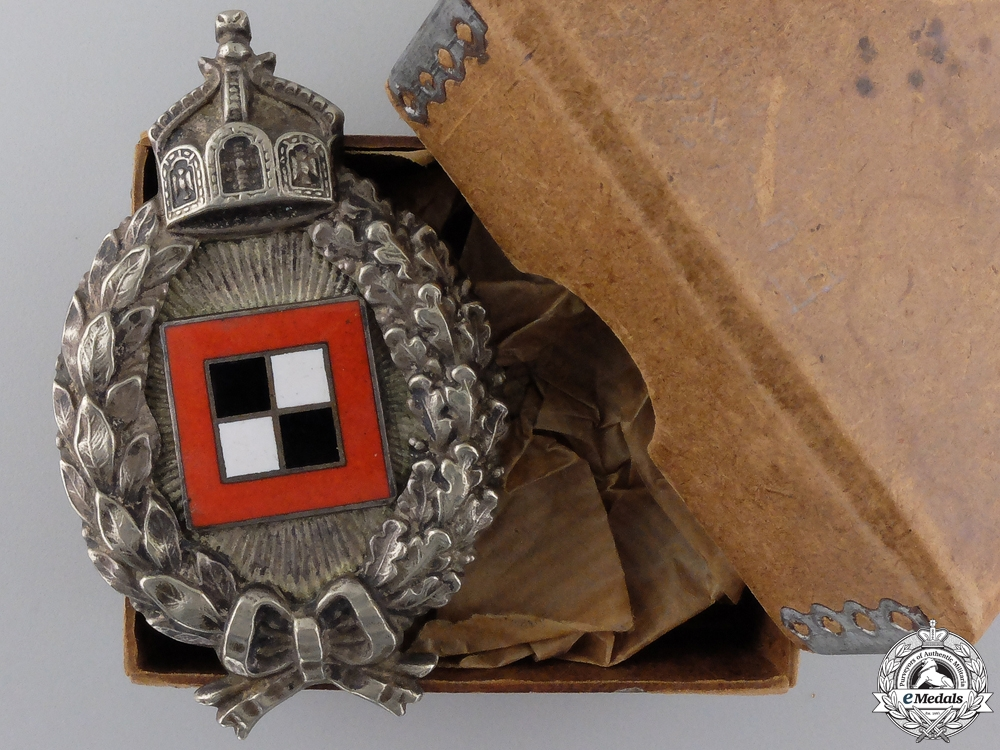 eMedals-A First War Prussian Observer's Badge in Box of Issue c.1917