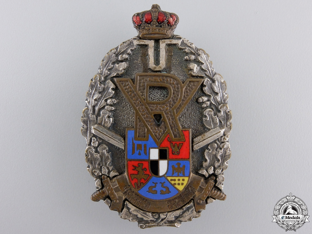 eMedals-A First War Romanian Officer's Front Line Volunteer Badge
