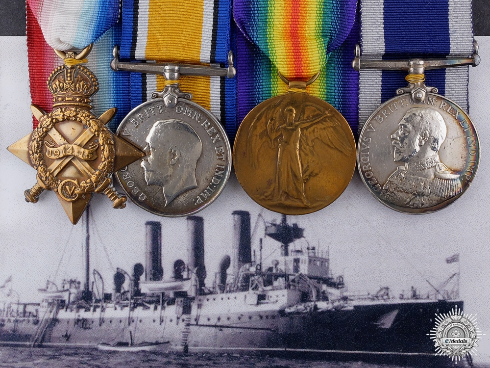 eMedals-A First War Royal Navy long Service Group to Submarine C-34