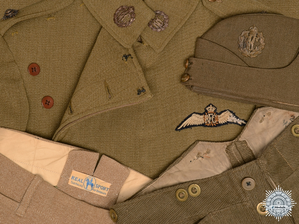 eMedals-A First War Royal Flying Corps Maternity Tunic, Trousers, & Cap