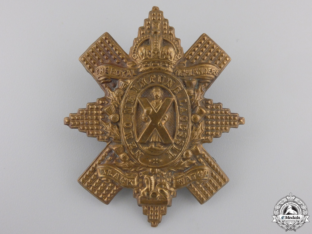 "eMedals-A First War Royal Highlanders ""Black Watch"" Glengarry Badge"