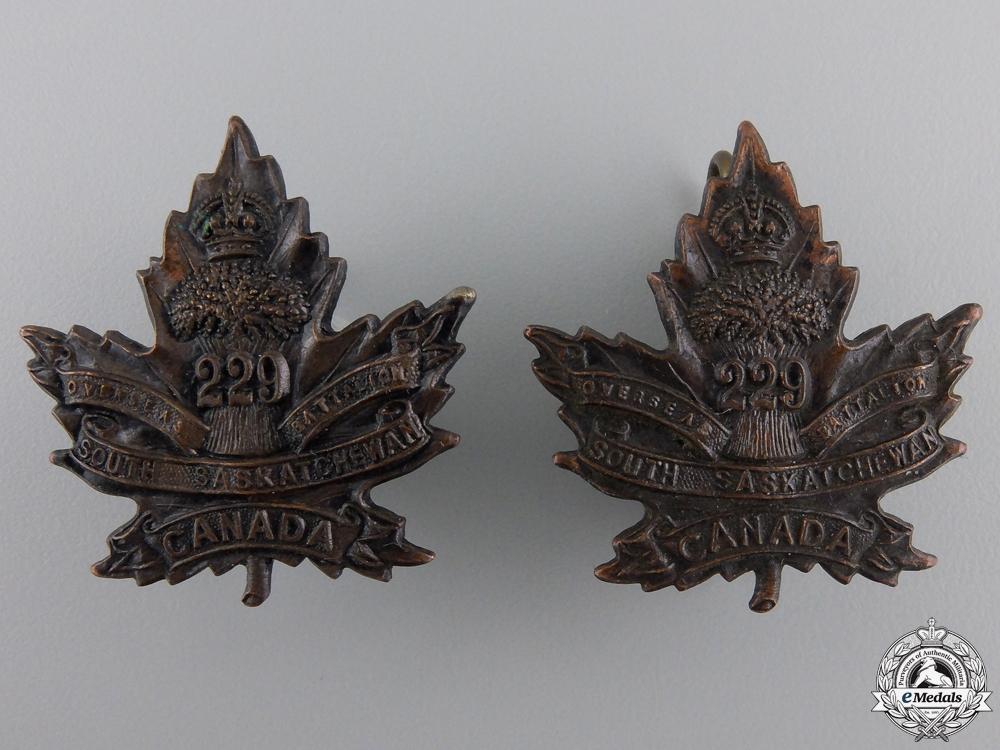 eMedals-A First War South Saskatchewan Battalion Collar Badge Pair   Consignment 28