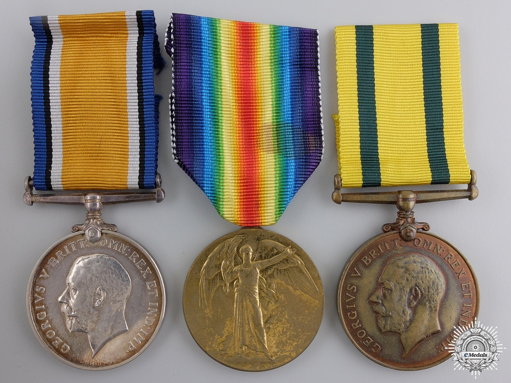 eMedals-A First War Territorial Medal Group to the Devon Regiment