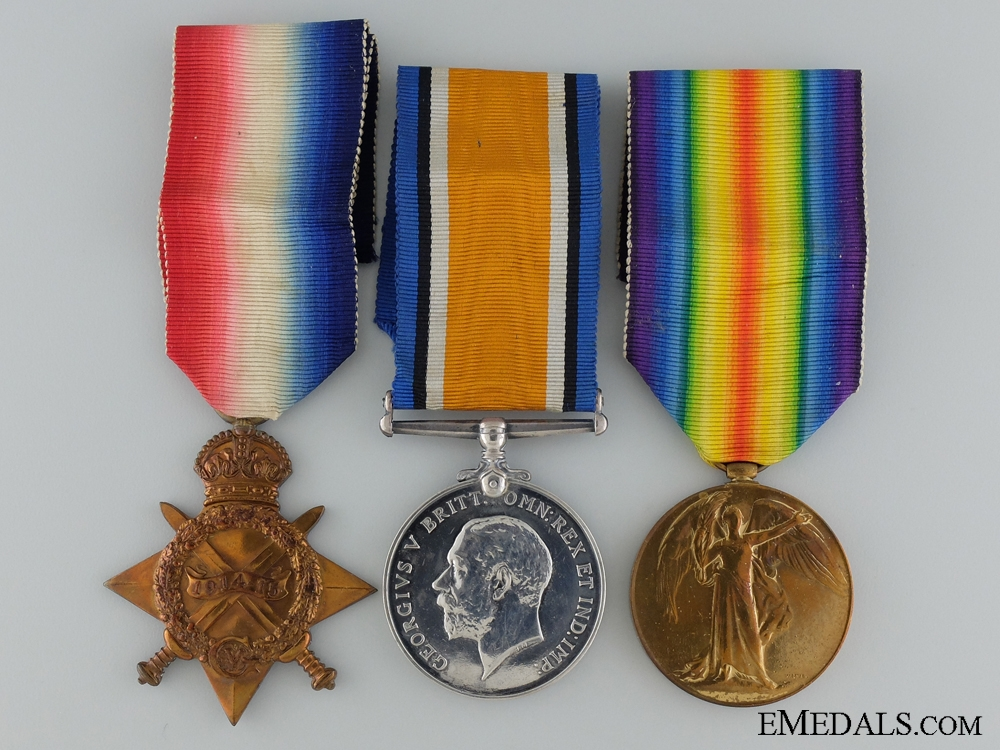 eMedals-A First War Trio to the 4th Canadian Mounted Rifles CEF