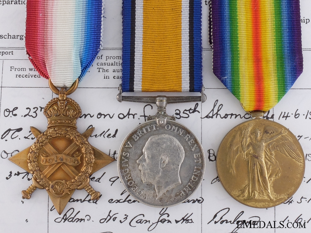 eMedals-A First War Trio to the 3rd Canadian Infantry; Kinmel Park